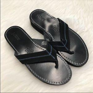 J. Crew Leather Flip Flops
